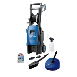 Nilfisk C130.1-6 Refurbished Pressure Washer with Compact Patio Cleaner & Wash Brush